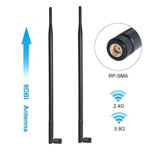 Protronix 2dBi RP-SMA Antenna for Wireless Card or Router 2-Pack
